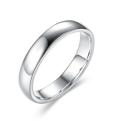 Simple 925 Sterling Silver Wedding Bands