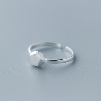 Unique Design Polygonal 925 Sterling Silver Promise Rings For Her