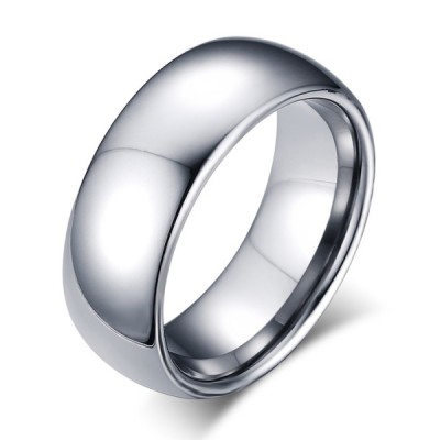 Tungsten Simple Silver Men's Ring