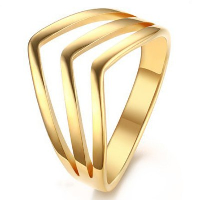 Titanium Nice Gold Promise Rings For Her
