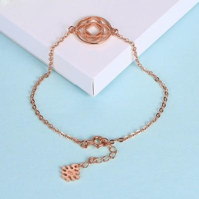 Rose Gold/Silver/Gold Flower Pendant Nice S925 Silver Bracelets