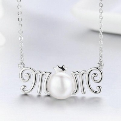 Gift for Mom 925 Sterling Silver Pearl Necklace