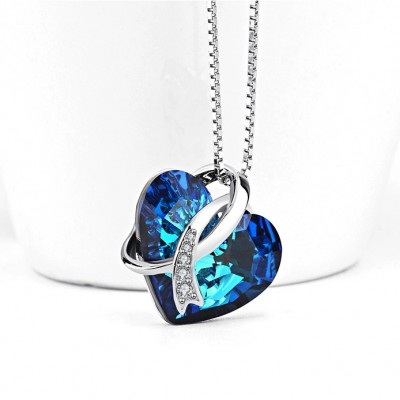 Swarovski Crystal 925 Sterling Silver Zircon Necklace