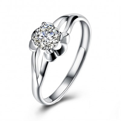 Nice Round Cut White Sapphire S925 Silver Nice Engagement Rings