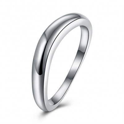 Elegant and Simple S925 Silver Wedding Bands