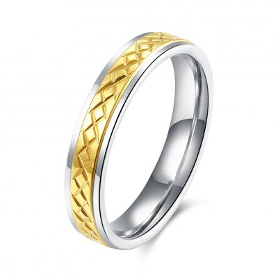 Nice Silver and Gold Titanium Bands Rings for Women
