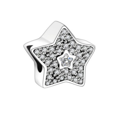 Stars Charm Sterling Silver