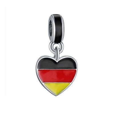 German Flag Charm Sterling Silver