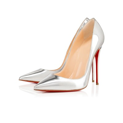 Women's Closed Toe Patent Leather Stiletto Heel High Heels
