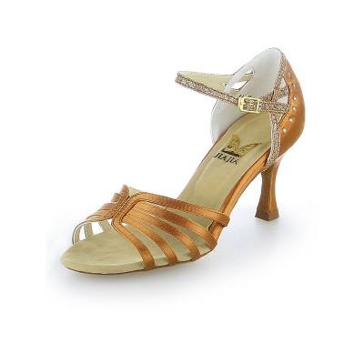 Women's Satin Peep Toe Stiletto Heel Sparkling Glitter Dance Shoes