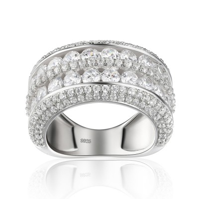 4.95CT Round Cut White Sapphire 925 Sterling Silver Women's Wedding Bands