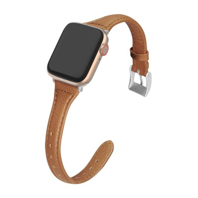 Leather Watch Thin Wristband Compatible with Apple Watch Band  for iWatch Series 6/5/4/3/2/1/SE