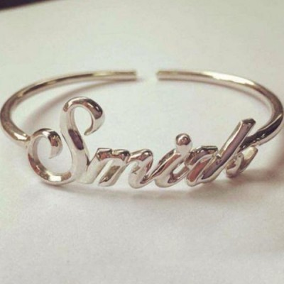 Nice S925 Silver Personalized Name Bangles