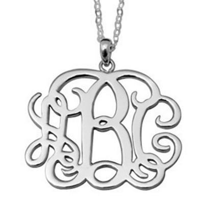 Monogram Personalized S925 Silver Name Necklace