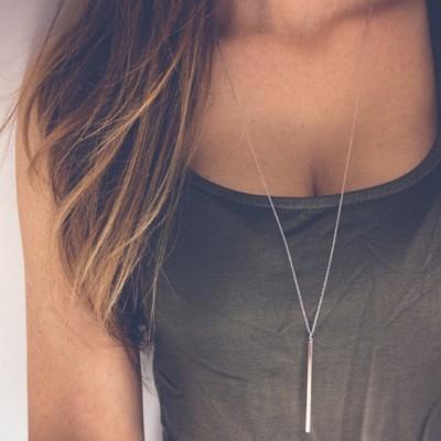 Simple Classic Stick Pendant Necklace
