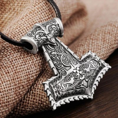Vintage Viking Raven Amulet Necklace