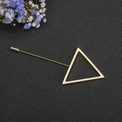 Simple Triangle Single Needle Brooch
