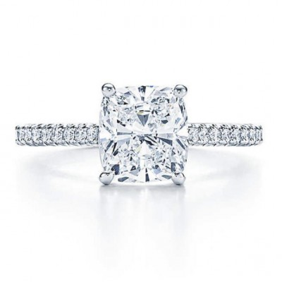 Cushion Cut White Sapphire 925 Sterling Silver Bridal Sets