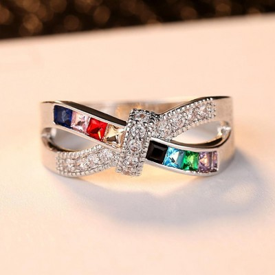 Unique Colorful Engagement Ring