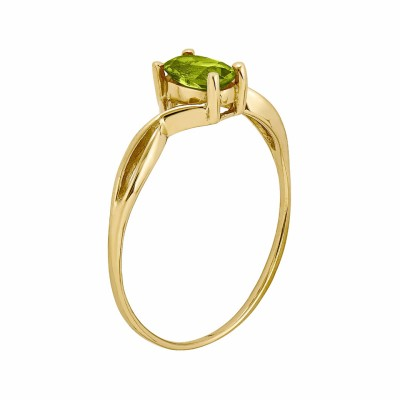Oval Cut Peridot 925 Sterling Silver Gold Birthstone Rings