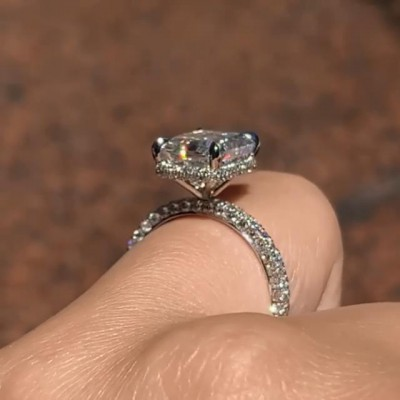 Radiant Cut 13.1 Carat White Sapphire 925 Sterling Silver Engagement Rings