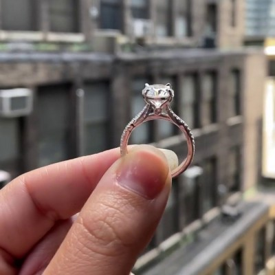 Round Cut White Sapphire 925 Sterling Silver Infinity Engagement Rings