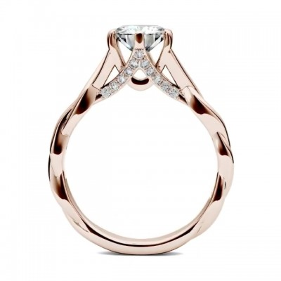 4.6CT Round Cut White Sapphire 925 Sterling Silver Rose Gold Infinity Engagement Rings