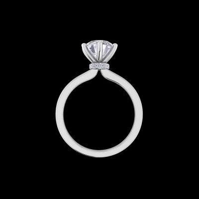 Round Cut White Sapphire 925 Sterling Silver Solitaire Engagement Rings