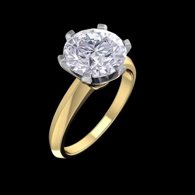 8.75CT Round Cut White Sapphire Solitaire 925 Sterling Silver Gold Engagement Rings