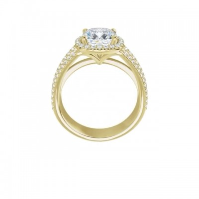 4.6CT Cushion Cut White Sapphire 925 Sterling Silver Gold Halo Engagement Rings