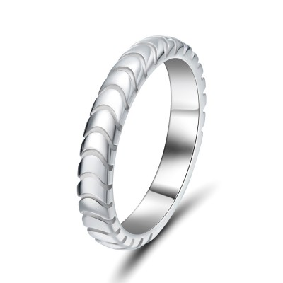 Elegant 925 Sterling Silver Women's Wedding Bands