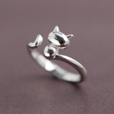 Cute Pet Cat Adjustable Opening Ring