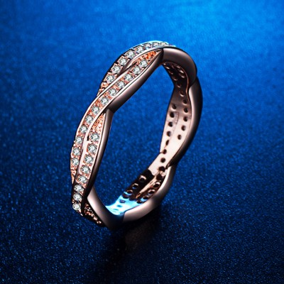 Simple Rose Gold Womens Wedding Band
