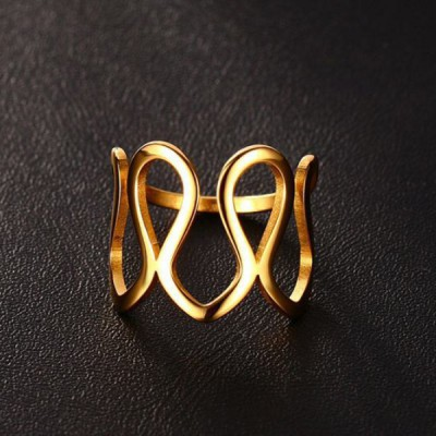 Titanium Gold Unique Promise Rings For Her