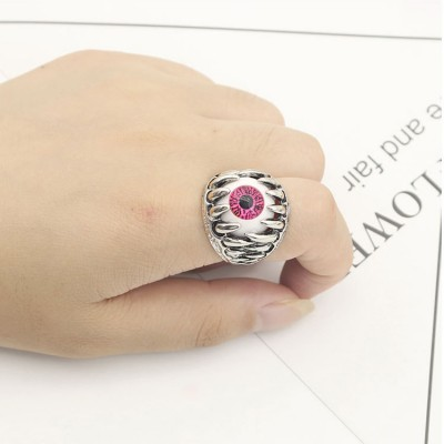 Punk Style Dragon Claw Evil Eye Rings
