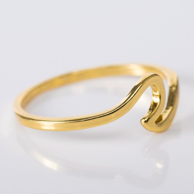 Simple Elegant Gold Promise Band