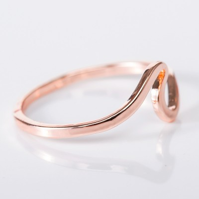 Simple Elegant Rose Gold Promise Band