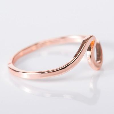 Simple Elegant Rose Gold Promise Band