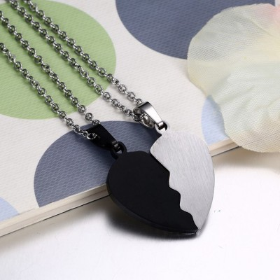 Best Friends Black and Silver 925 Sterling Silver Necklace