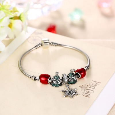 Red Hearts Apple Accessories S925 Silver Bracelets