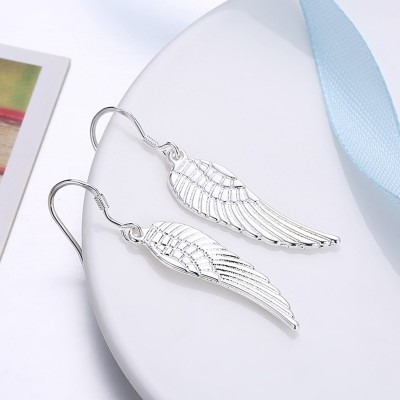 Fashion Wing Design S925 Silver Earrings