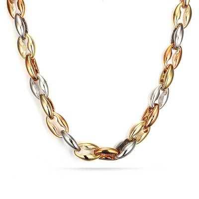 Silver & Gold and Rose Gold Titanium Steel Chains