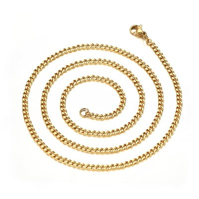 3mm Gold Titanium Steel Chains