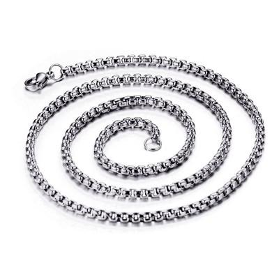 Shining 3mm Silver Titanium Steel Chains