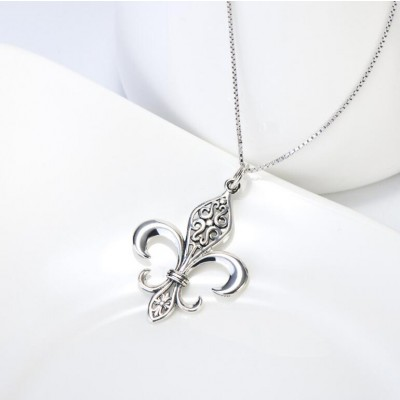 Flower 925 Sterling Silver Necklace