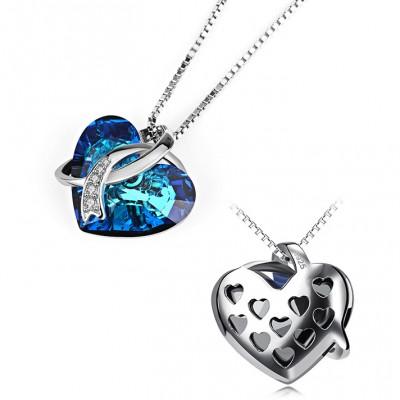 Swarovski Crystal 925 Sterling Silver Zircon Necklace