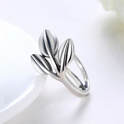 Leaf Cute S925 Silver Promise Rings