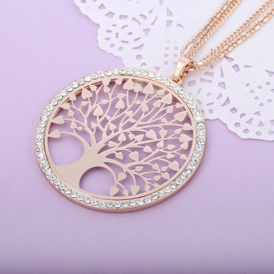 """Tree Of Life"" Rose Gold Pendant Necklace"