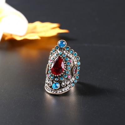 Vintage Ruby & Blue Sapphire Promise Rings For Her