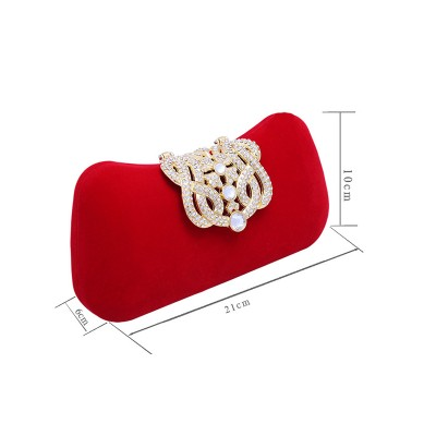 Elegant Rhinestone Pillow Party/Evening Bags